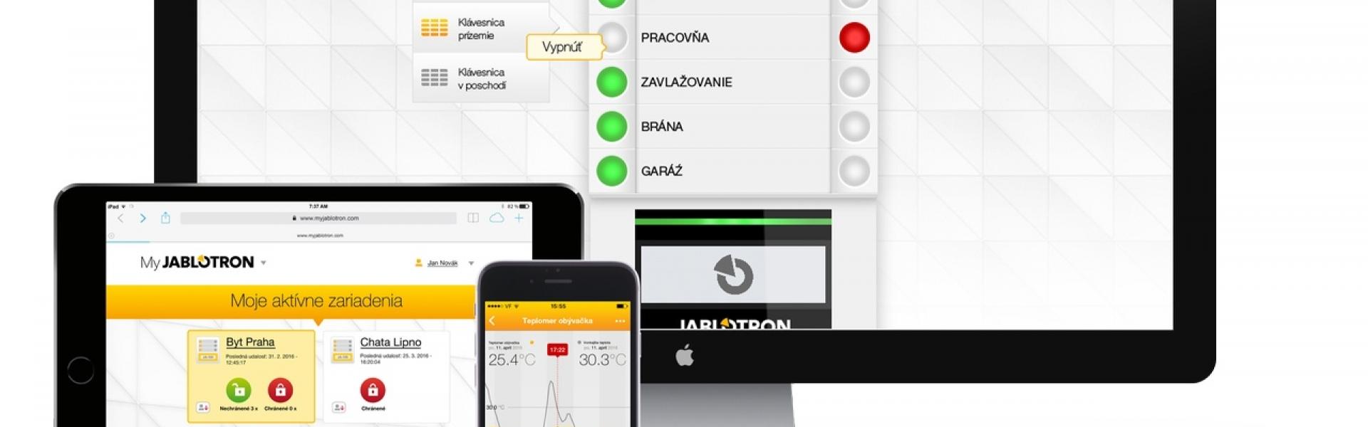 jablotron, aplikácie